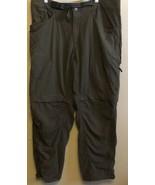 Men's Convertible Mountain Hardwear XL Green Belted Zip Off Nylon Hiking... - $28.89