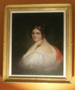1940 Portrait Realism Painting by the Master W. HOPEMAN, 1800 High Socie... - $512.99
