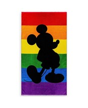 Disney Parks Rainbow Mickey Mouse Silhouette Beach Towel New with Tags - $34.49
