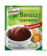KNORR BARSZCZ czerwony RED BORSCHT beets soup -3pc. Made in Poland FREE ... - $10.88