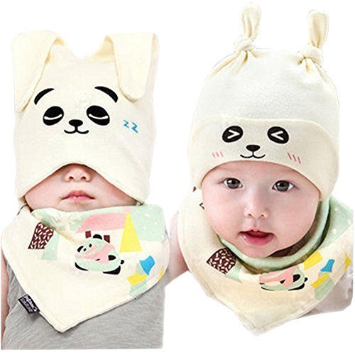 Baby Multifunctional Toddler Soft Infant Cotton Hat 0-18Months(Panda)