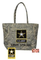 Embroidered Us Army Star Strong Camo Heavy Duty Tote BAG-Beach Travel Shopping - $21.99