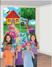 BLUES CLUES SCENE SETTER BIRTHDAY party wall BACKDROP Magenta photo prop... - $12.77