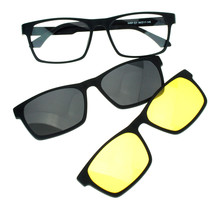 Mens Magnetic Polarized Antiglare Driving Clip On Sunglasses Glasses - $45.74 CAD