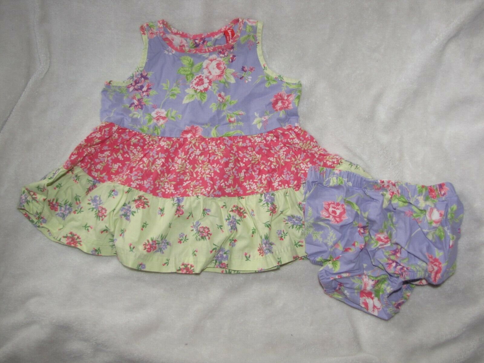 Primary image for Hanna Andersson Three Sisters Shabby Floral Tiered Tier Ruffle Dress Easter 60