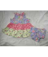 Hanna Andersson Three Sisters Shabby Floral Tiered Tier Ruffle Dress Eas... - $19.30
