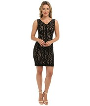 Anne Klein Dress Sz 4 Black Illusion Sleeveless Embellished Dinner Cockt... - $59.35