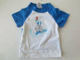 Gymboree Boy Elephant Rino Cat Graphic Swim Shirt - Size 3-6 Months -  NWT - $5.99