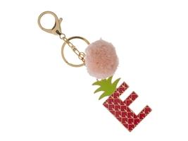 """Colorful & Fun Goldtone Pom Pom Initial """"E"""" Keychain - $15.95"""