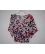 Women's Charlotte Russe Long Sleeve Blouse Top Multi color Size XS - $7.69