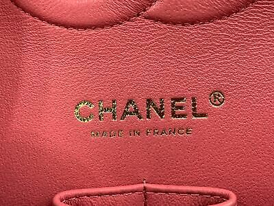 Chanel Shiny Pink Quilted Caviar Medium Classic Double Flap Bag A01112Y83470