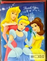 10 Disney Prinesses Thank you Cards - $7.43
