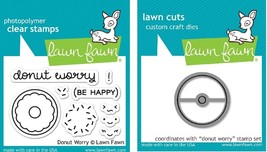 Donut Worry Stamp & Die set. Lawn Fawn