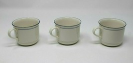 "Lenox Chinastone Blue Pinstripes Cups set of 3 approx. 3""x3"" inches - $20.89"