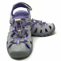 Brand New Khombu Kids Athletic Active Girls Purple Sandals image 4