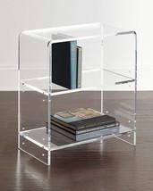 Horchow Everly Acrylic Bookcase Shelf French Modern Hollywood glam $715 - $583.71