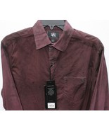 Rock & Republic Eggplant Distressed Dyed Metal R&R Metal Accents Shirt S... - $29.99