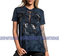 Affliction Bella AW19765 New Short Sleeve Graphic Fashion T-shirt Top fo... - $45.95