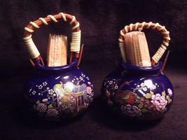(2) VINTAGE KUTANI JAPAN HAND PAINTED PORCELAIN MID CENTURY TOOTHPICK HO... - $29.70