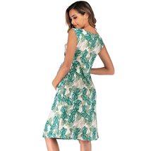 Maternity's Dress V Neck Floral Print Sleeveless Fashion Dress image 7