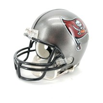 NFL Riddell Helmet Mini 3 5/8 Tampa Bay Buccaneers with Chin Strap - $18.66