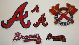 Atlanta Braves~Embroidered Patch~6 Versions~Iron or Sew On~MLB~FREE US Mail - $2.95+