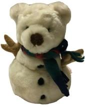 "Russ Berrie Snowbeary White TEDDY BEAR  Snowman Plush 8"" Stuffed Animal - $13.99"