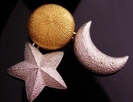 SIgned Christian Dior bijoux - Vintage  chandelier stars moons brooch - ... - $225.00