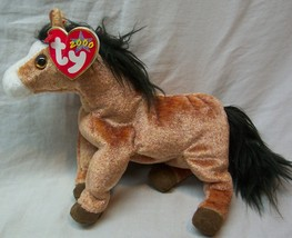 """TY 2000 SHINY BROWN OATS THE HORSE 8"""" Plush Stuffed Animal NEW - $15.35"""