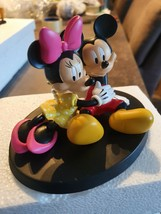 Extremely Rare! Walt Disney Mickey and Minnie Relaxing Figurine Statue - $267.30