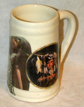 Coffee Mug Real Photo Transferware laminate early Americans children hea... - $10.00