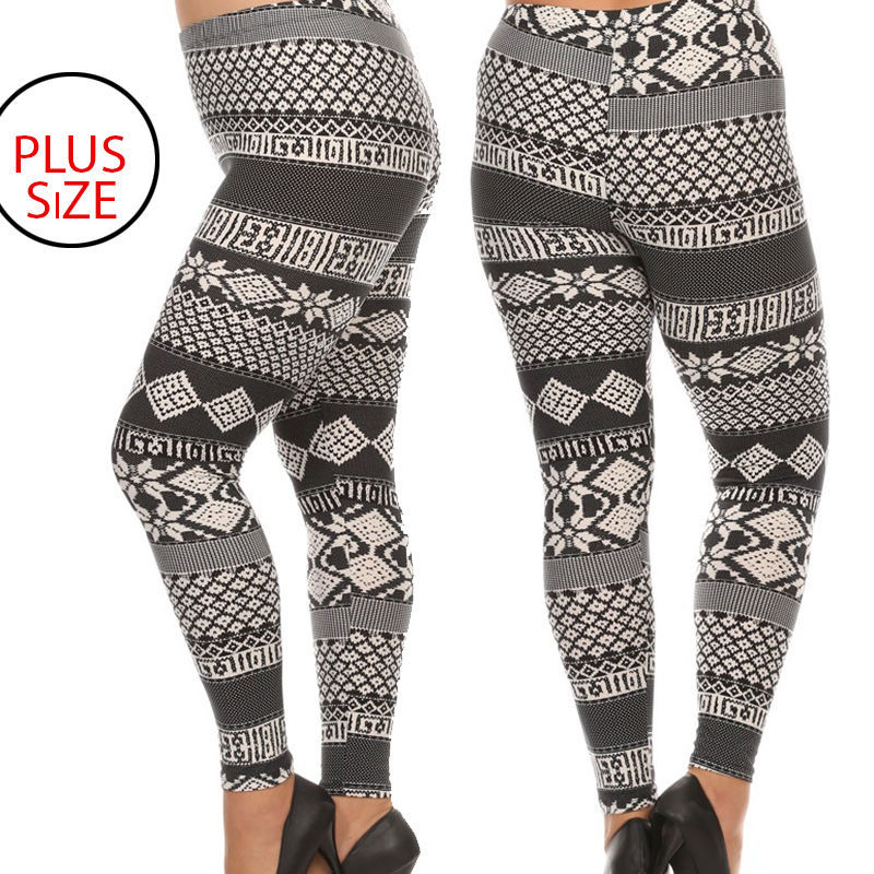 2008ee6d0ac0cf Buttery Soft Plus Size Snowflake Leggings Tall Curvy Queen LuLaroe Inspired  - $19.99