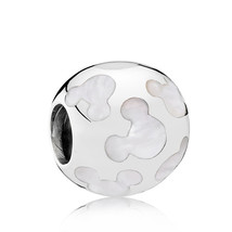 925 Sterling Silver Disney Pearlescent Mickey Silhouettes Charm Bead QJC... - $21.99