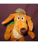 "Kohls Cares Go Dog Go Plush Stuff Animal 12"" Hat Scarf Brown Green Puppy... - $9.99"