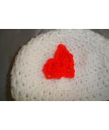 Hand crocheted Valentine beanie/cap/hat - $6.00