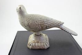 Antique Heavy Cast Iron White Pigeon Home Decor - $69.30