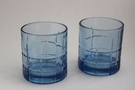 Pair of Blue Anchor Hocking Whiskey Tumbler Glasses Bourbon - $13.86