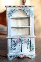 Antique Doll Furniture Corner Hutch American Folk Art - $17.32