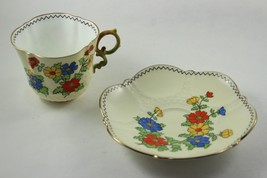 Vintage Aynsley England Tea Cup and Saucer Floral Design China - $44.55