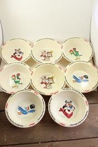 8 Kellogg's Cereal Bowls Corn,Frosted Flakes,Rice Krispies,Fruit Loops - $55.44