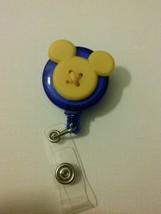 Yellow Mickey Mouse badge reel key card ID holder lanyard retractable Di... - $8.50