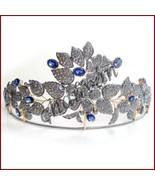 PARTY WEAR Vintage Look 11.58C Rose Cut Diamond 925 Silver Sapphire Tiar... - $1,510.00