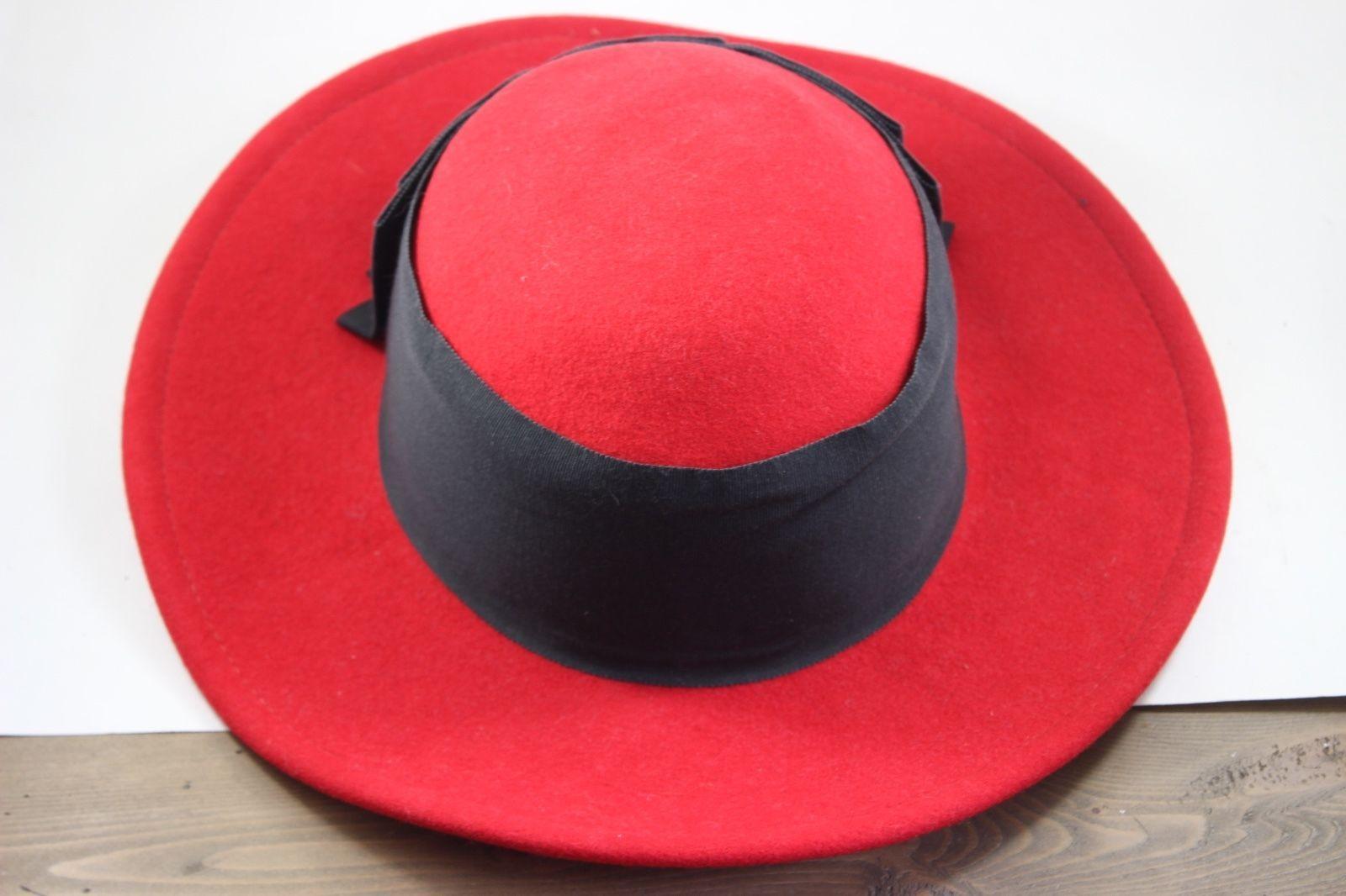 Vintage Women s Betmar 100% Wool Red Hat -  31.19 6c4e3d2c95a