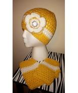 Yellow & White Ear Warmer/Headband & Fingerless... - $35.00