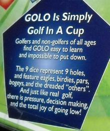 Golo Dice Game Travel Edition Unused and Still Sealed Simply 2006 Golf In A Cup