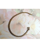 Vintage Gold Nugget Bracelet Gold Plate 7.25 In... - $10.00