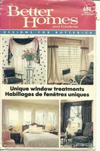 Butterick Sewing Pattern 487 Window Treatments Topper Valance Curtain Swag New - $6.99
