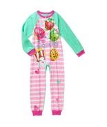 Shopkins One Piece Sleeper  PJ  Pajamas Girls N... - $29.95