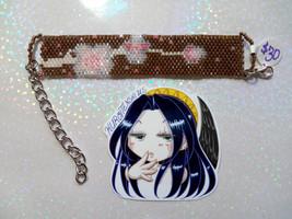 Sakura Blossoms Handmade Flat Bracelet - $30.00