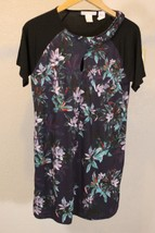 Design History Women Dress Unusual Size M Purple Floral - $9.89